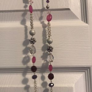 NWT Long pink & purple necklace